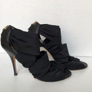 Fendi strappy black open toe sandals heels! 7
